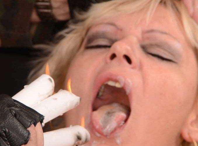 STG. Pain erzieht eine MILF mit Kerzentalg auf die Titten